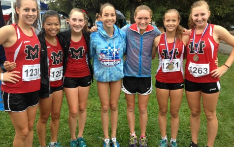 Girls cross country races to the top