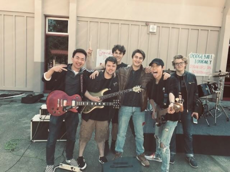 """Flight 222 after their gig at Monte Vista's Al Gentile Amphitheatere. They played a variety of songs including """"Lithium"""" by Nirvana and Coldplay's """"The Scientist""""."""