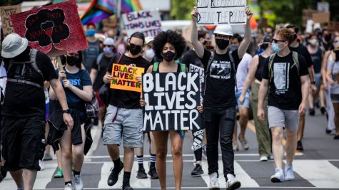 A crowd of protesters march to the White House on June 13, 2020 in support of the Black Lives Matter movement.