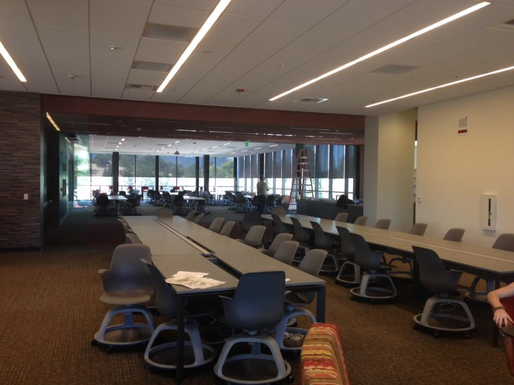 The new Workday student center features a new library