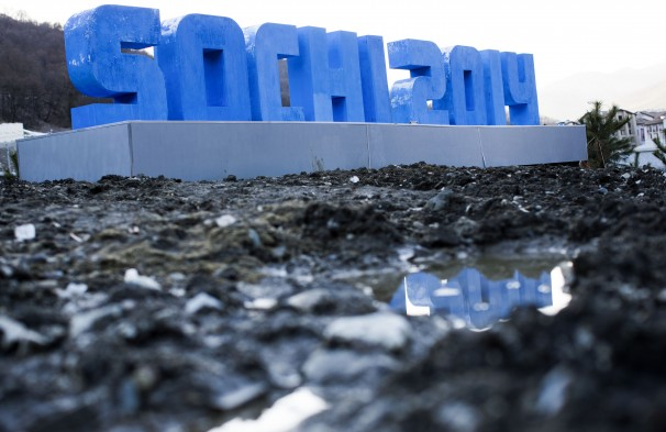 The the Sochi games puts a large strain on the environment and residents of the town, generating much international controversy. (Photo Credit: Washington Post)