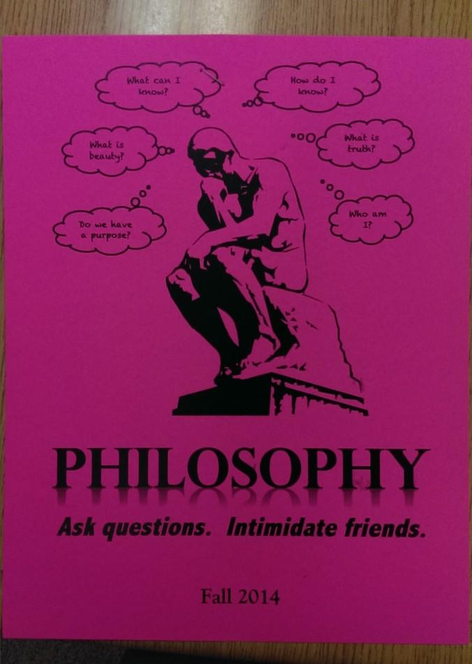 Among other new classes that will be offered during the 2014-2015 school year is a semester-long Philosophy course.
