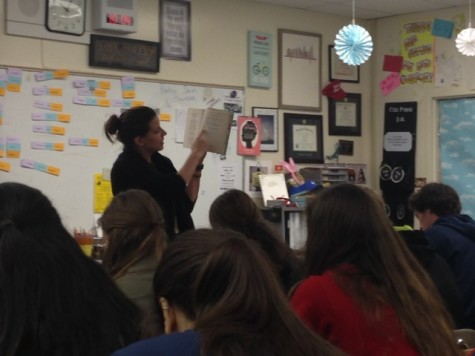 Ms. Little discussing The Great Gatsby with her junior class. The Great Gatsby is known for being one of the most enjoyable books read in high school, but what about the rest?