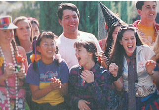 "The students of 1996, have gone ""all out"" on homecoming week and excitedly watch as their fellow students are in competition for class activities chosen by leadership.  Unlike today, as a part of their homecoming week, they made individual class competitions for each day of homecoming week including relays, the ""Dizzie Izzie"", pie eating contests, and Tug of War!"