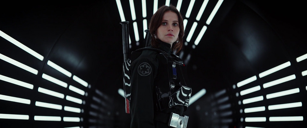 The main character played by Felicity Jones, is an orphan known for having a rogue streak.