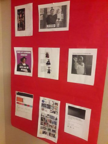 History-themed memes decorate the wall outside of the AP World History classroom. Every year, it week's like there's been more and more pressure to take AP classes. It's time to see if they're really as big of a deal as everyone makes them out to be. (Courtesy of Michael Rhee)