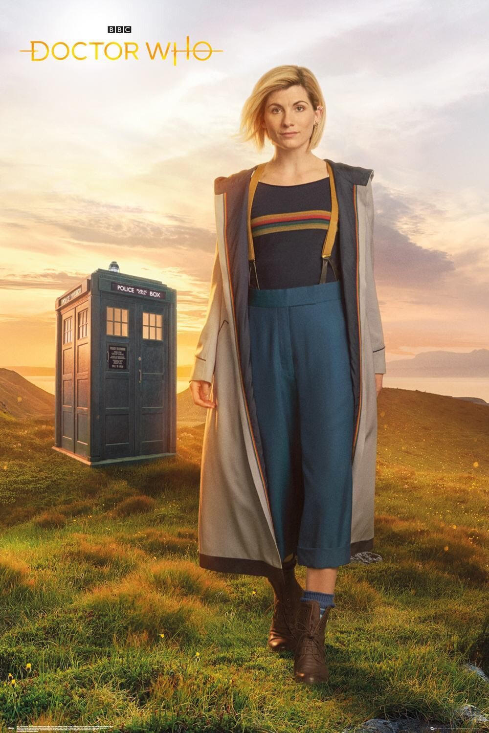 Jodie Whittaker poses as the 13th doctor in the show Doctor Who. Whittaker is the first female to play the lead role of the time lord in 55 years.