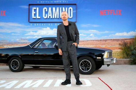 "LOS ANGELES, CALIFORNIA - OCTOBER 07: Aaron Paul attends the World Premiere of  ""El Camino: A Breaking Bad Movie"" at the Regency Village on October 07, 2019 in Los Angeles, California. (Photo by Rachel Murray/Getty Images for Netflix)"