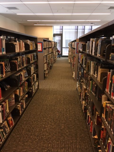 Monte Vista's library is not crowded with students. Monte Vista's new librarian, Julie Garrahan, has been working to add more modern books that appeal to high schoolers.