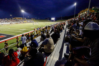 The site at a high school football game in Alabama this year. Fans are required to wear masks and socially distance, their won't be nearly as many fans attending this year at Monte Vista.