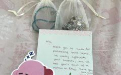 Beading Cancers packaging includes the purchased jewelry, a sticker, and a thank you note that informs the customer of the impact their purchase has made.
