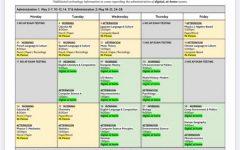 SRVUSD AP Test Schedule for 2021